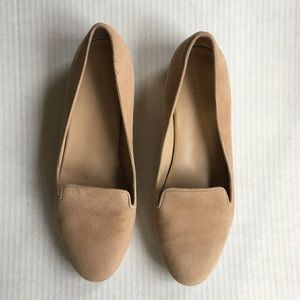 J Crew Suede Loafers Slip On Flats Tan Size 8